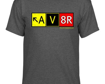 Aviation Pilot T-Shirt! AV8R (Aviator) Taxiway Sign Graphic T-Shirt (Classic Fit)