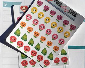 Kawaii Flower Stickers