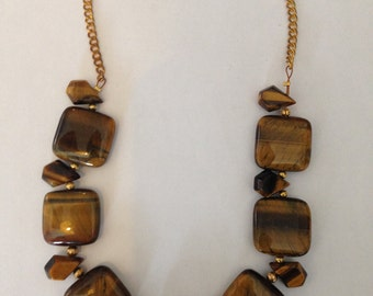 Brown Tiger Eye Stone Necklace
