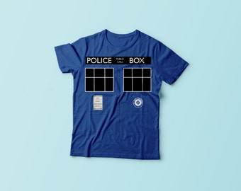 Tardis - Doctor Who - Police Box - T-Shirt
