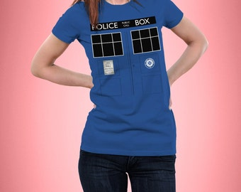 Tardis - Doctor Who - Police Box - T-Shirt - Fitted - Womens