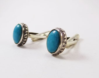 Beautiful Turquoise Sterling Silver 925 Handmade Cufflinks Mens Jewellery  Blue by AmoreJewels
