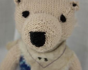 Polar Bear Knit Wool Doll
