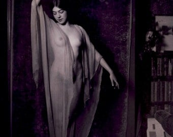 Arnold Genthe photo, posed female figure, 1920's