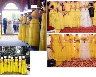 Bridesmaids Dresses - various models, fabrics and colours