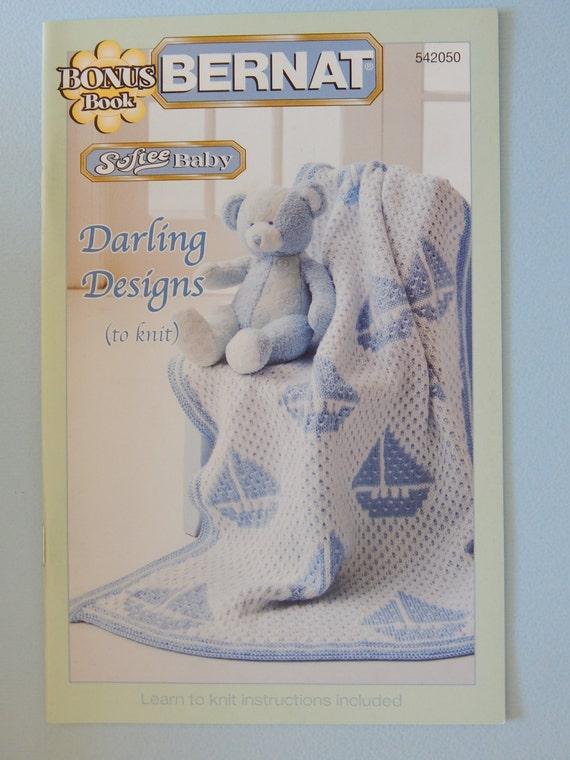 Bernat Yarns Knitting Pattern Project Booklet Softee Baby