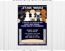 50% OFF SALE Star Wars Invitation Editable Text, PDF, Instant Download