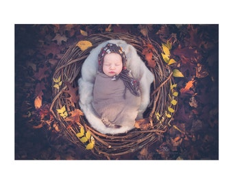Newborn baby bonnet / baby bonnet hat / newborn knitted baby hat / hats for girls / photography props newborn baby / newborn baby hat bonnet