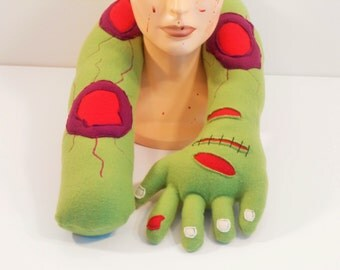 Zombie Plush Pillow, Zombie Horror Neck and Travel Pillow