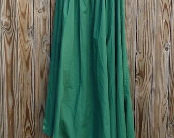 Vintage Green Cotton Skirt Renn Faire Fairy Festival Garb