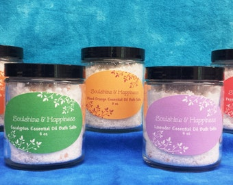 All Natural Essential Oil Bath Salts-8 oz