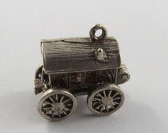 Caravan Mechanical Sterling Silver Vintage Charm For Bracelet