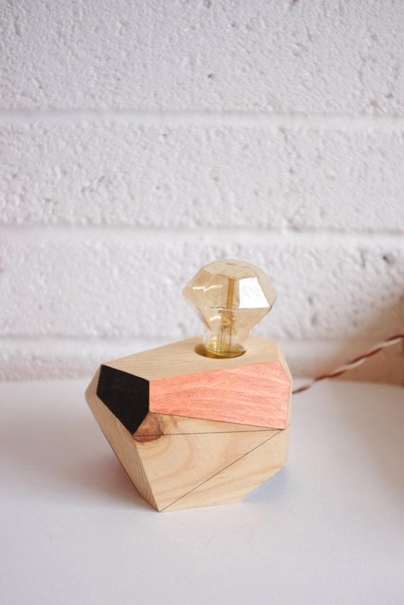 geometric lighting wooden table lamp indus by by polymorphics. Black Bedroom Furniture Sets. Home Design Ideas