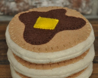 Felt Pancakes - Felt Food for Pretend Play