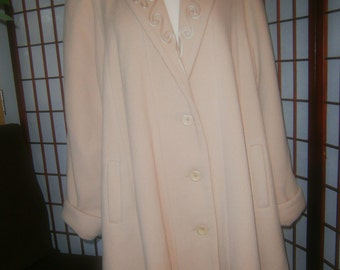 Women's 3/4 Coat - Retro 1940's look - Beige /Camel Color