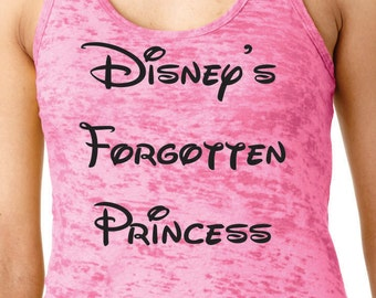 Disney's Forgotten Princess>>Women workout tank top.Running tank top.Burnout tank.Racer back.