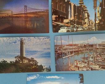Vintage San Francisco Photograph Postcards;California  1960's; Cliff House Restaurant; Golden Gate Bridge; California Photographs