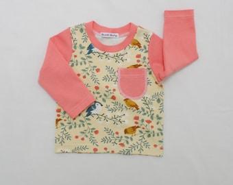 Organic Cotton Baby,Girl Long Sleeve Shirt,Birch Organic,Organic Baby Shirt,Organic Toddler Shirt