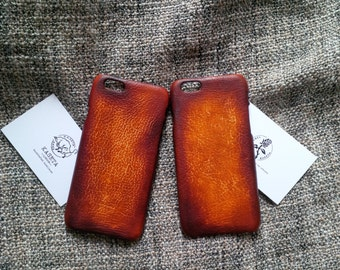 iPhone 7, 6, 6s  leather case 'Old DarkBrown'