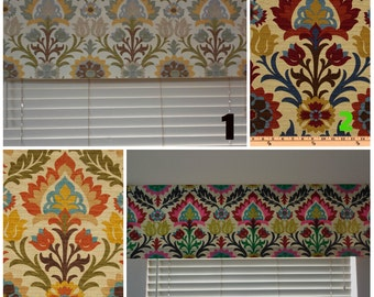 Window valance window panels custom window curtains floral valance window topper southwest curtains 4 colors