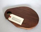 Teardrop walnut cheese board, cutting board, serving tray - handmade, reclaimed, salvaged