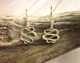 Sterling Silver Swirl Earrings - #49