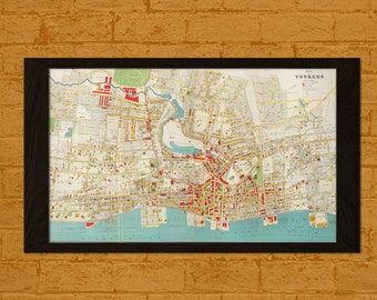 Get 1 Free Print *_* Old Map Yonkers New York 1893 - Ancient Map Wall Art Antique Yonkers Map Poster Home Decor Old Map Prints Wall Art