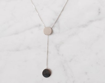 Necklace with moveable dots, 925 silver