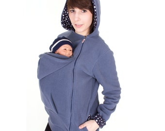 carrier jacket. belly to baby carrier jacket, babywearing coat, maternity, carrying hoodie, fleece jacket