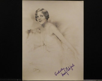 Autographed Print of Mary Pickford
