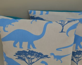 dinosaur cushion cover/child's cushion with T-Rex and more/cushion cover with envelope opening at the back