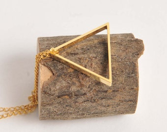 Vintage brass triangle