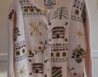 Vintage Christmas Cardigan On Sale (Original Price 35.00)
