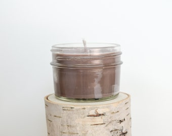 Campfire Candle || Hand Poured || Organic Soy Candle // 4 oz. Jar
