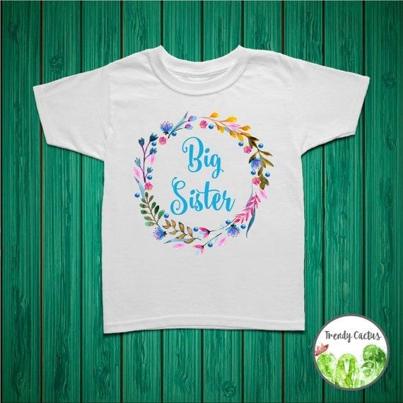Big sister shirt big sister announcement big by trendycactus for Big sister birth announcement shirts