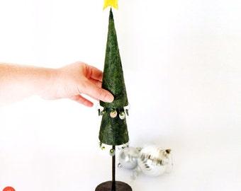 Paper Christmas tree, papier mache Christmas tree, paper xmas tree, Christmas gift, Christmas home decor, green home decor, seasonal gifts