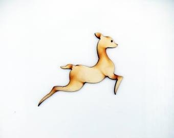 Laser cut wood Deer Cut Out| Laser Deer Cut Out