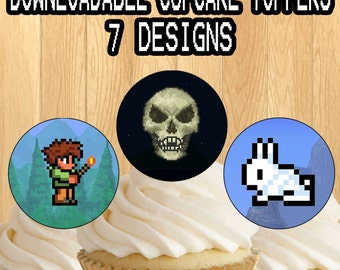 PRINTABLE Terraria Cupcake Toppers / picks Terraria characters Birthday Party Decor! 7 Designs!