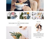 """ON SALE WordPress Theme - Responsive, Simple, Minimal - """"Phoebe"""" for WordPress - Woocommerce - Customizable and Clean - Instant Download - F"""