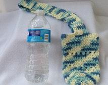 Crocheted Water Bottle Holder, Water Bottle Cozy, Bottle Carrier, Crocheted Bottle Carrier, Bottle Cozy, Water Holder, Water Carrier