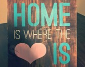 Home Is Where The Heart Is/Home Wood Sign/Wood Sign/Home Decor/Wall Decor/Decor
