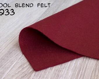Wool Blend Felt Vinous