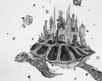 Phantasmagorical Sea Turtle