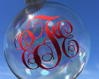 Monogram Personalized Christmas Gift Ornament