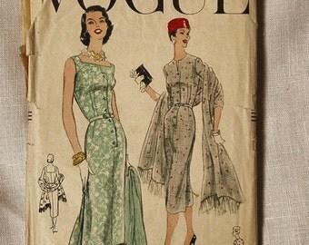 Vintage Vogue dress pattern, Vogue 8923, 1950s, size 36 inch bust
