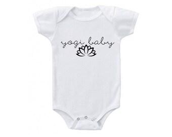 Yogi Baby Yoga Lotus Flower Onesie BodySuit T-Shirt Toddler Sizes Available