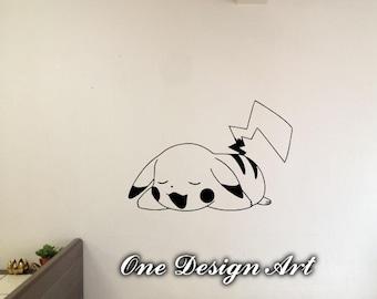 Pikachu Pokemon Wall Decals Anime Mural Arts Sticker For Interior Decor  Kids Inspiration Vinyl Decal Game Part 58