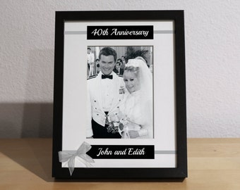 40th wedding anniversary 40th anniversary gift for parents 40th ...