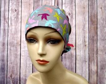 Handmade Surgical Scrub Hat - Scrub Cap - Ponytail - Fly Away
