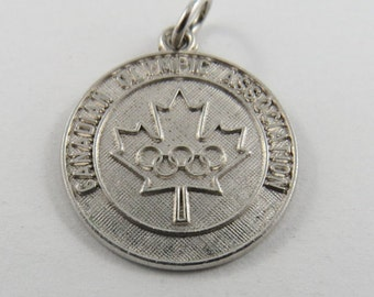Canadian Olympic Association Sterling Silver Charm or Pendant.